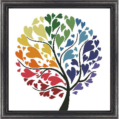 Rainbow Tree of Hearts