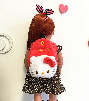Doll accessories red Hello Kitty bag for 18 inch American girl doll