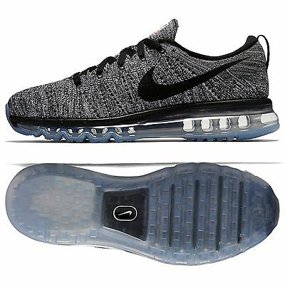 buy popular 9cc28 9a716 Nike Flyknit Air Max 620469-105 Oreo White Black Men s Reflective Running  Shoes