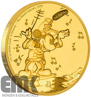 Niue - 25 Dollar 2016 - Mickey - Band Concert - 1/4 Oz. Gold PP