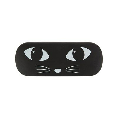 Black Cat Glasses Hard Case Cute Girly Eyes Face Black and White Kawaii