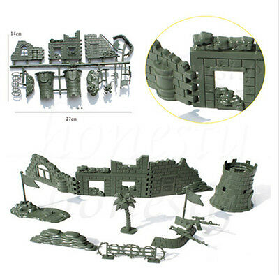 1Set Military Wall Blockhouse Weapon Model Kits Toy Soldier Army Men Accessories