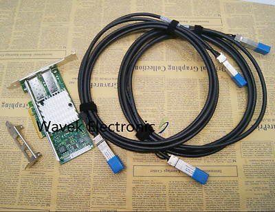 INTEL X520-DA2 E10G42BTDA Dual Port Ethernet Server Adapter W/2x3M 10G Cable