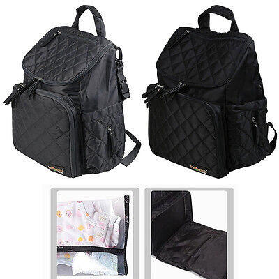 AU STOCK Nappy Mummy Backpack Mother Diaper Bags Baby Newborn Pad Changing Bag