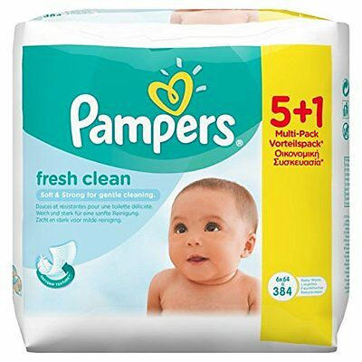 Pampers Feuchte TŸcher Fresh Clean, NachfŸllpackung, 6 x 64 StŸck - 384 St.