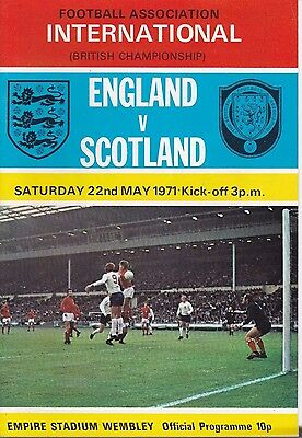 England V Scotland ~ British Championship ~ 22 May 1971 Excellent Condition (5)