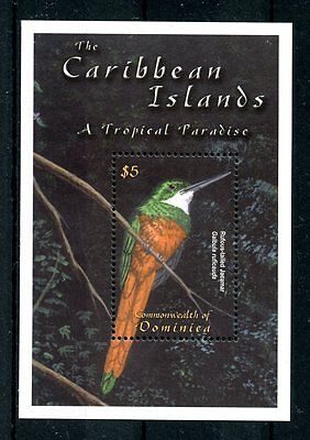 Dominica 2001 MNH Caribbean Islands Tropical Paradise Birds 1v S/S II Stamps