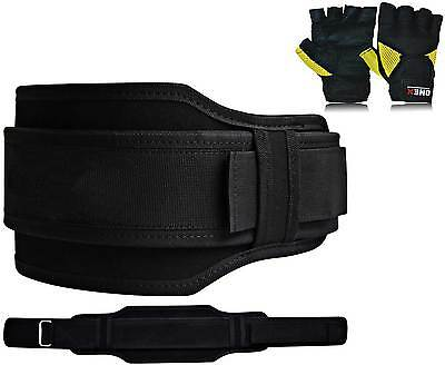 New Back And Abdomen Support Belt Gym Exercise Weight Lifting Body building (L)
