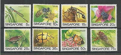 Singapore 1985 Insects Lower Values Sg,491-498 U/mm Nh Lot 2930A