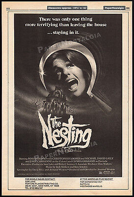 THE NESTING__Original 1981 Trade print AD promo / horror poster__ROBIN GROVES