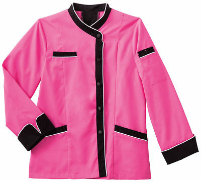 Five Star Women's Long Sleeve Breathable Mesh Back Executive Chef Coat. 18038