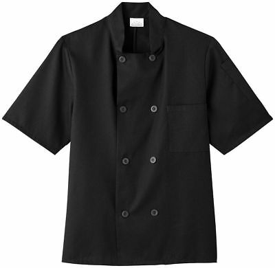 Five Star Adult Unisex Short Sleeve Stand Up Collar 8 Button Chef Jacket. 18001