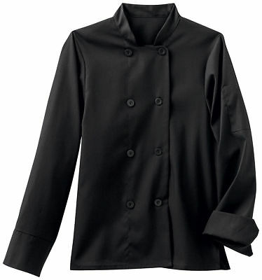 Five Star Women's Long Sleeve Stand Up Collar French Cuffs Chef Jacket. 18026