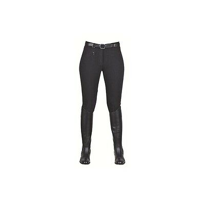 SALE! Ladies HKM Cotton Stretch Horse Riding Jodhpurs Trousers - Black