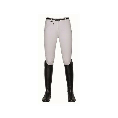 SALE! Ladies HKM Cotton Stretch Horse Riding Jodhpurs Trousers - White
