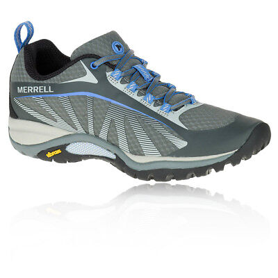 Merrell Siren Edge Womens Grey Blue Vibram Walking Outdoors Hiking Sports Shoes