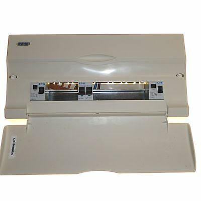 12 way consumer unit with 2 x 80 amp 30mA RCD and 100 amp isolator switch NEW