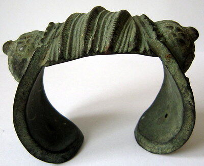 RARE AMAZING ANTIQUE 18th-19th CENTURY HUGE BRONZE BRACELET # 719