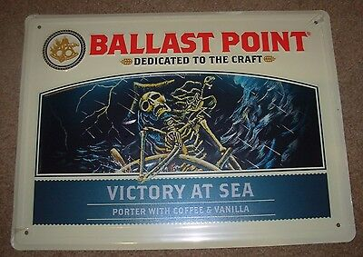 BALLAST POINT Victory at Sea horiz METAL TACKER SIGN craft beer brewery brewing