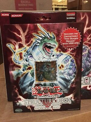 YuGiOh GX Dinosaurs Rage 1st EDITION Special Edition Structure Deck w/ 5HD