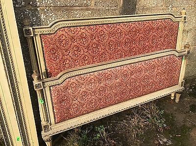 Rare, French, Antique, Vintage Original Painted King Size Bed, 150x200cm