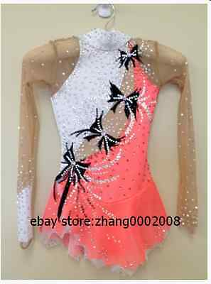 Lovely Ice skating dress.salmon Competition Figure Skating dress.Twirling outfit