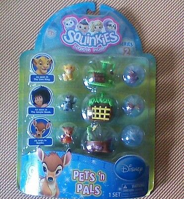 "SQUINKIES Disney PETS N PALS ""SERIES 2"" Jungle Book,Bambi,Lion King NEW & RARE !"
