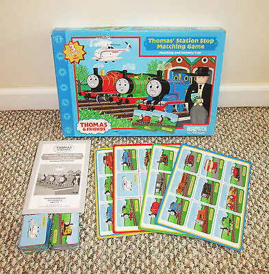 2002 Briarpatch THOMAS AND FRIENDS Station Stop Matching Game - Complete!