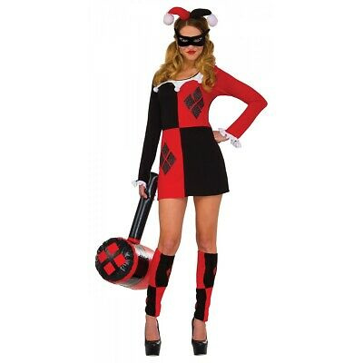 Harley Quinn Costume DC Comics Halloween Fancy Dress