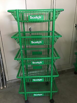 Scotch Retail Baskets Rack Floor Store Display Fixture Vintage