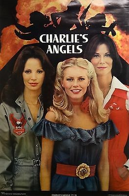 Charlie's Angels 23x35 '77-'78 Cast TV Series Poster 1977 Original S504