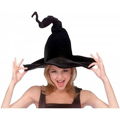 Wired Bendable Witch Hat Black Costume Accessory Adult Halloween