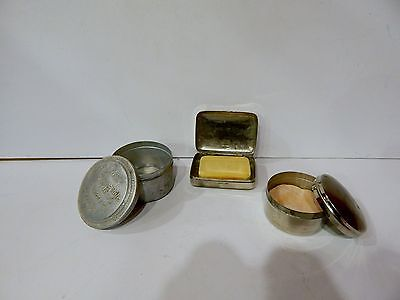 Vtg Vanity Sets Face Powder Boxes And Soap Paris T Leclerc