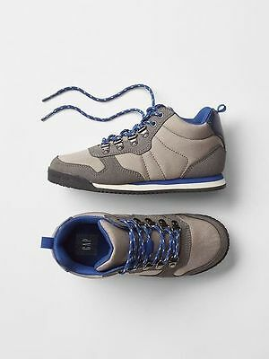 GAP Kids / Toddler Boys Size US 12 Gray / Blue Hiking Boots Sneakers Shoes
