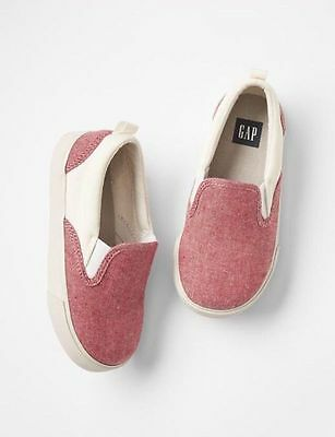 GAP Kids / Toddler Boys NWT Size US 13 / EU 30 Red Slip-On Sneakers Shoes
