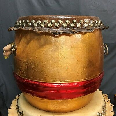 """Red - 21"""" Chinese Kung Fu / Southern Lion Dance Drum"""