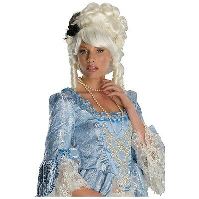 Marie Antoinette Costume Wig with Black Rose Adult Womens Halloween Fancy Dress