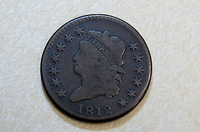 1812 Classic Head Large Cent VG Fine Great Surfaces!! Free Shipping