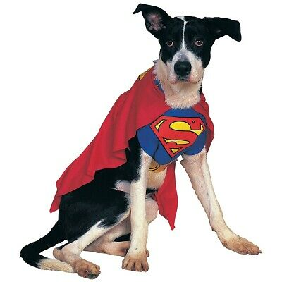 Superman Pet Costume Dog Superhero Halloween Fancy Dress
