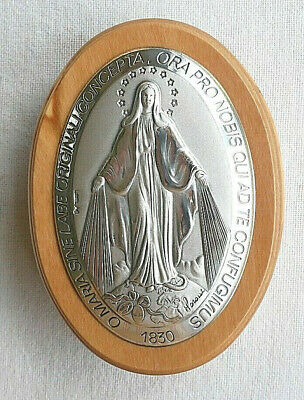 Miraculous Silver Plated Inlay Premium Olive Wood Box (Italy)
