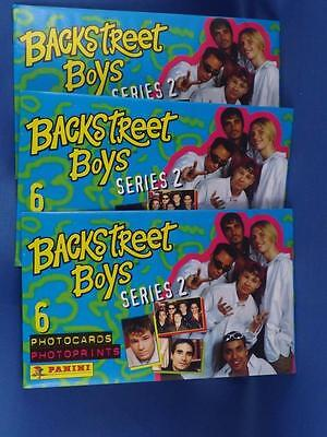 Vintage Backstreet Boys Collector Photo Prints Trading Cards 3 Pack Lot 1997