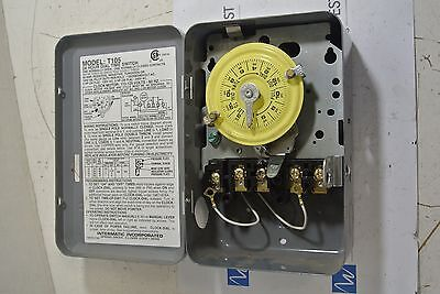 Intermatic T105  Dial Time Switch 24 Hour  40 amp 120/208/240v   USED