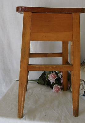 Vintage Pine Wood Farm~Primitive~Country Stool