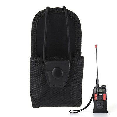 Multifunctional Nylon Pouch Portable Walkie Talkie Holder Two Way Radios Bag