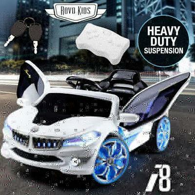 Rovo Kids Electric Ride On Car Bmw I8 Inspired Toy Battery Childrens