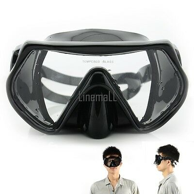 Scuba Diving Swimming Snorkeling Water Glass Goggles Tempered Lens Mask LM