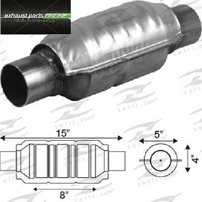 "Catalytic Converter 2 1/4"" Universal Euro Iv, 400 Cell, Round Large Body"