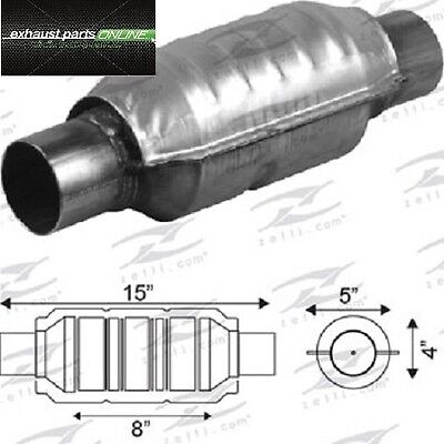 "Catalytic Converter 2 1/2"" Universal Euro Iv, 400 Cell, Round Large Body"