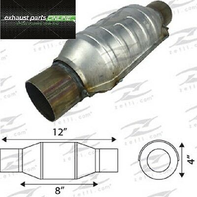 "Catalytic Converter 2 1/4"" Universal Euro Iv, 400 Cell, Round Small Body"