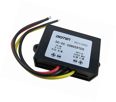DIGITEN DC 6V 5-11V to 12V 2A Step up Converter Regulator Waterproof Boost Power